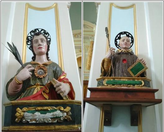 San Mauro Cilento - busti reliquiari di San Mauro Martire e San Mauro Abate