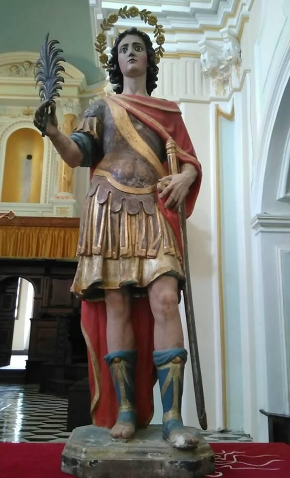 San Mauro Cilento - statua antica prima dell'ultimo restauro