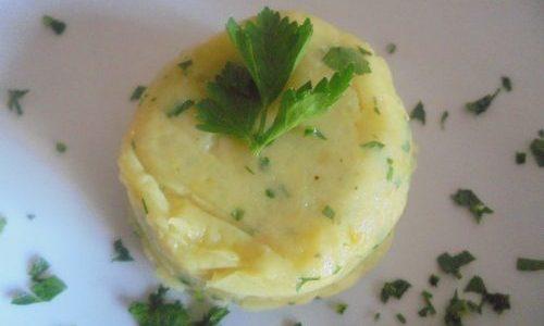 Tortino di patate, effetto e gusto con fantasia