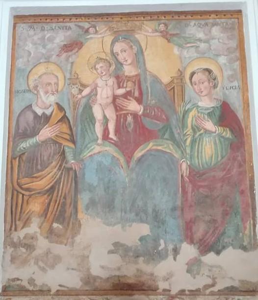 Santuario Madonna dell'Acquasanta: l'affresco, Laureana Cilento (Sa)