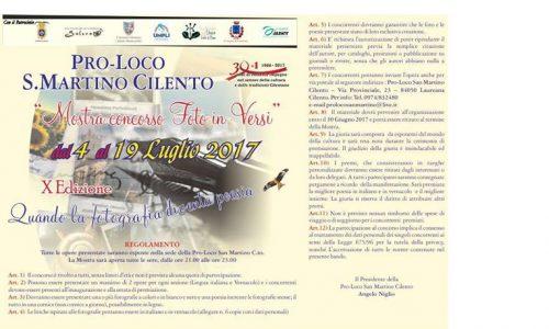 Pro-Loco S. Martino Cilento, 'Mostra concorso Foto in Versi'