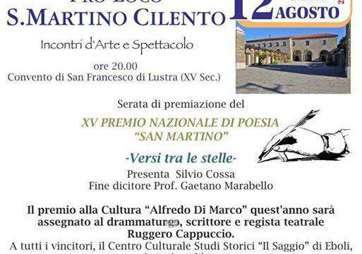Pro-Loco San Martino Cilento, premiazione 'Versi tra le stelle' 2017