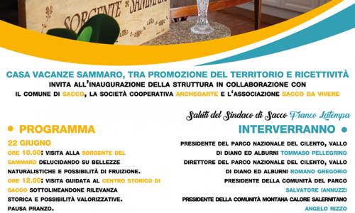 Sacco, inaugurazione 'Casa Vacanze Sammaro'