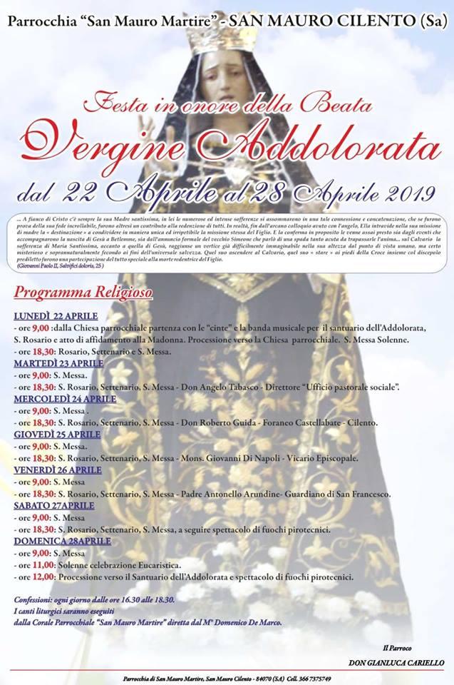 San Mauro Cilento - festività della Madonna 2019