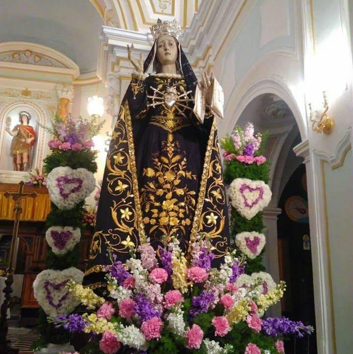 San Mauro Cilento - l'immagine della Madonna Addolorata