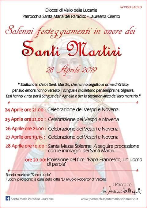 Laureana Santi Martiri - programma 2019