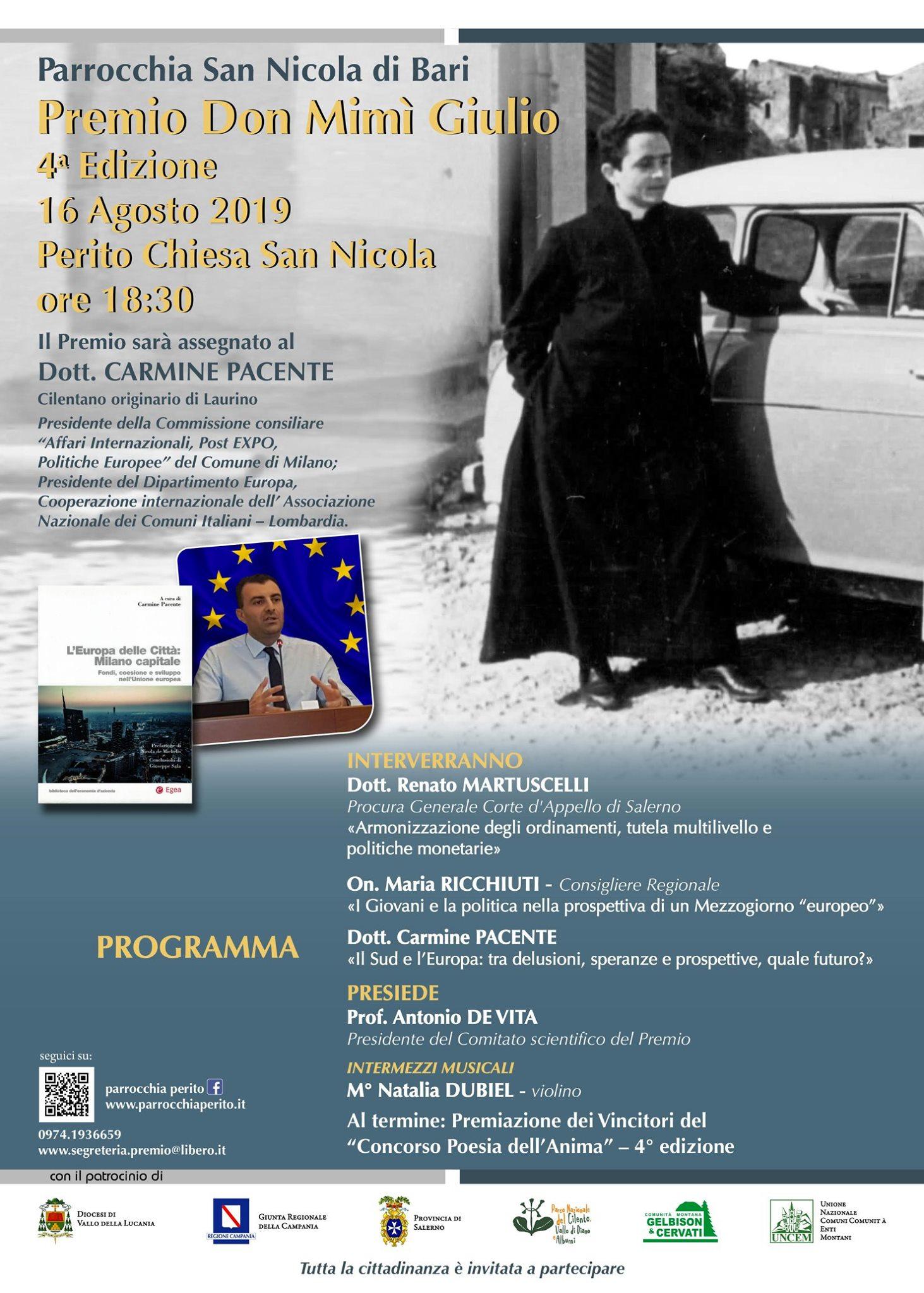 Premio Don Mimì Giulio 2019 - Perito (Sa)