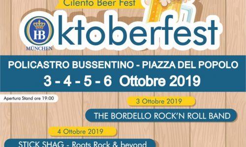 A Policastro (SA) arriva l'Oktoberfest CILENTO BEER FEST
