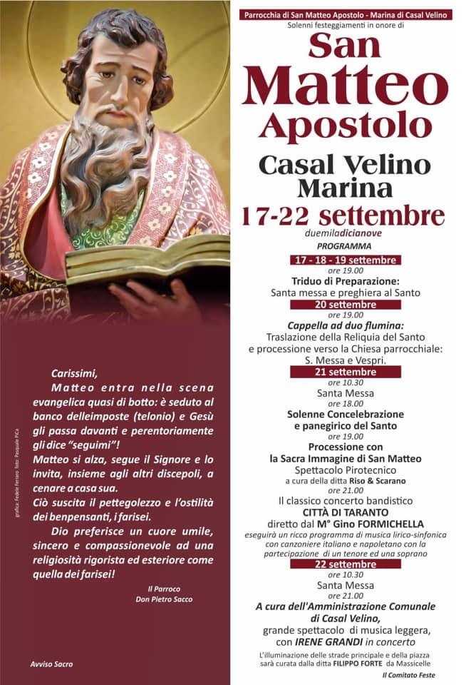 San Matteo, Casal Velino 2019
