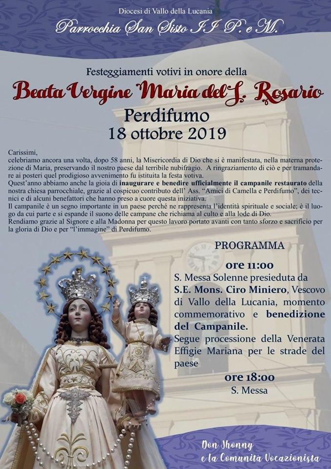Madonna del Rosario, 18 ottobre 2019