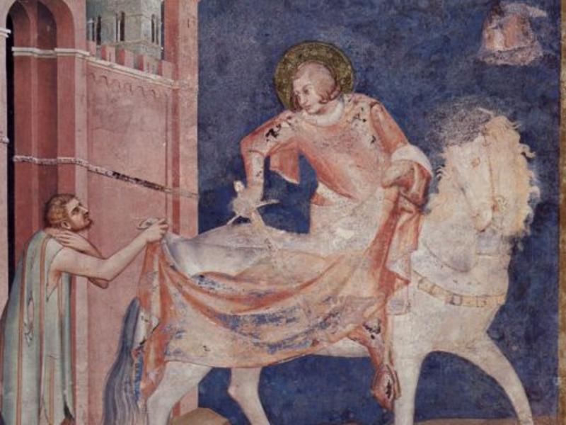 San Martino, la leggenda del mantello